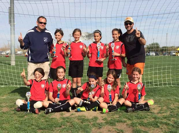 The West LA GU10 All-Star team, pictured above, dominated their division by taking home first place--without giving up a single goal in any game!