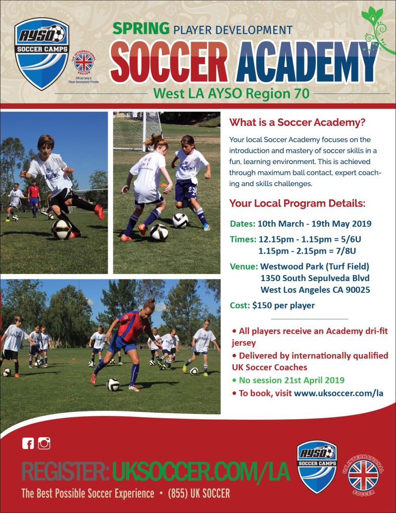 West LA Spring Academy flyer